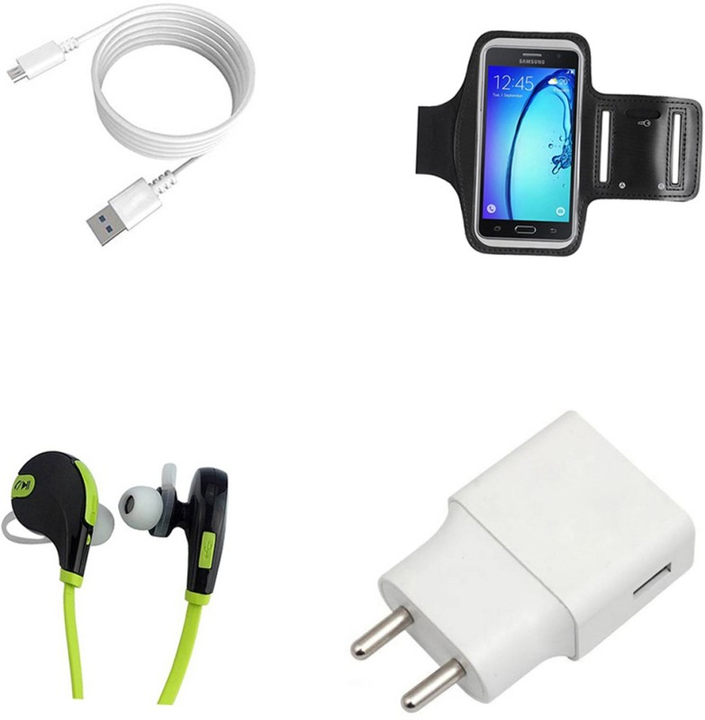 DAKRON Wall Charger Accessory Combo for Intex Staari 12(White)
