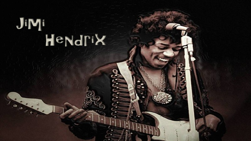 AnanyaDesigns Jimi Hendrix Fine Quality Wall Poster Paper Print(18 inch X 12 inch, Rolled)