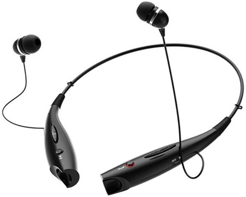 BAGATELLE HBS-730 Stereo Headphones Bluetooth Headset(Black, In the Ear)
