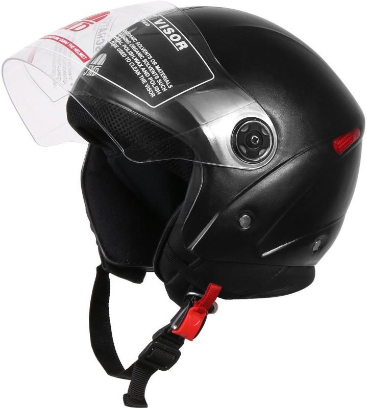JMD Grand New With Reflector Motorbike Helmet(Black)