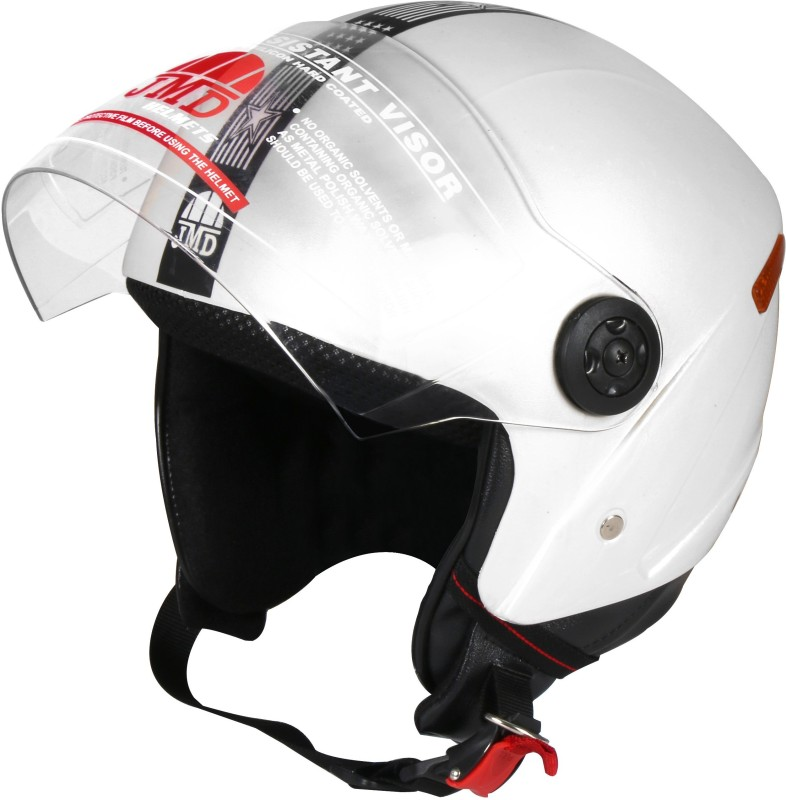 JMD Grand With Reflector WHITE (L-SIZE) Motorbike Helmet(White)
