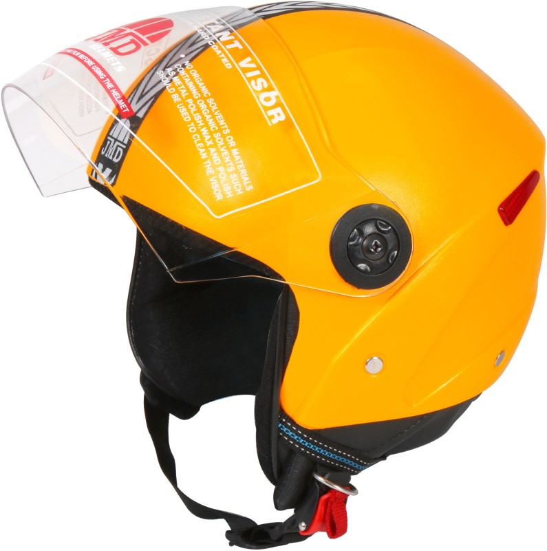 JMD GRAND NEW (With Reflector) YELLOW M-SIZE Motorbike Helmet(Yellow)