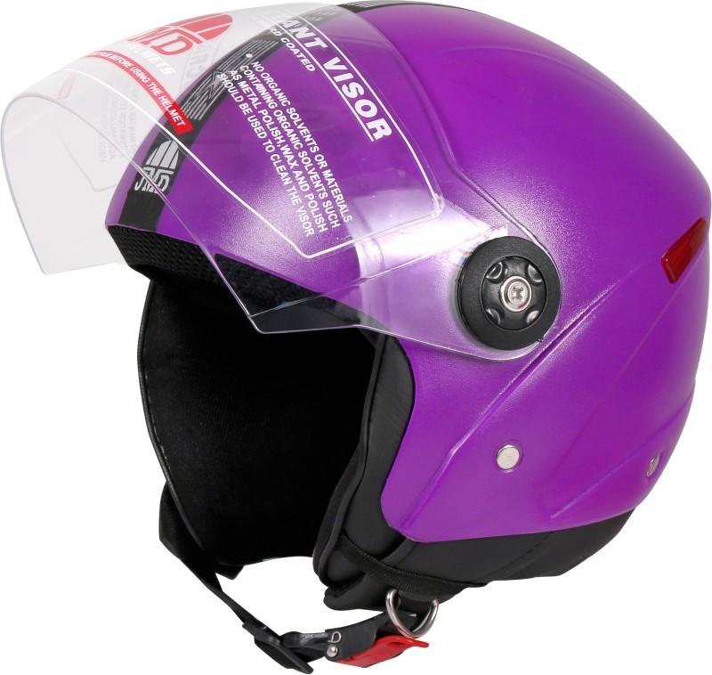 JMD GRAND NEW (With Reflector) PURPLE M-SIZE Motorbike Helmet(Purple)