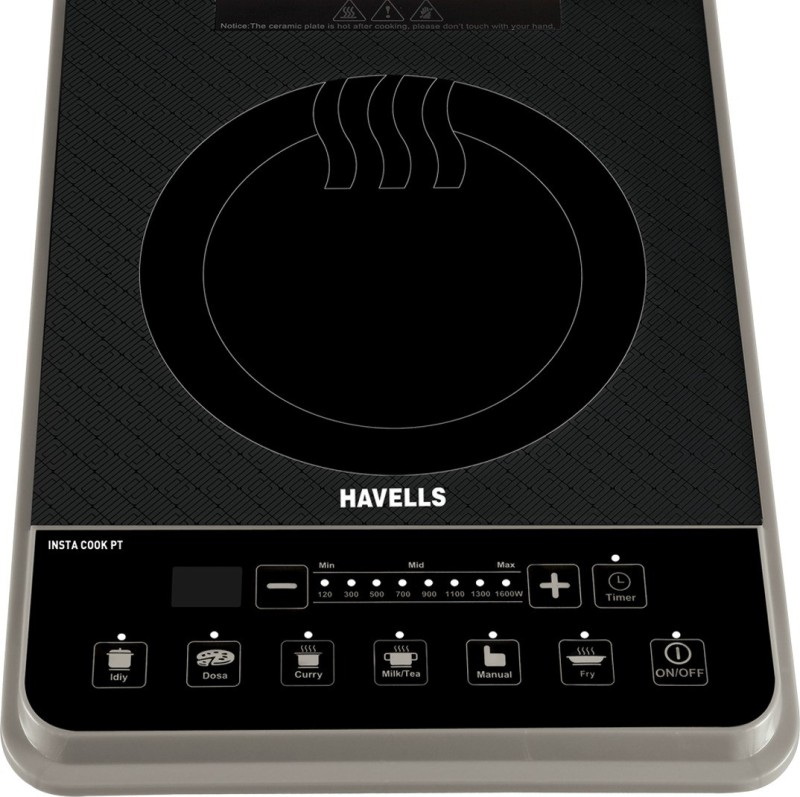 Havells INSTA COOK PT Induction Cooktop(Grey, Touch Panel)