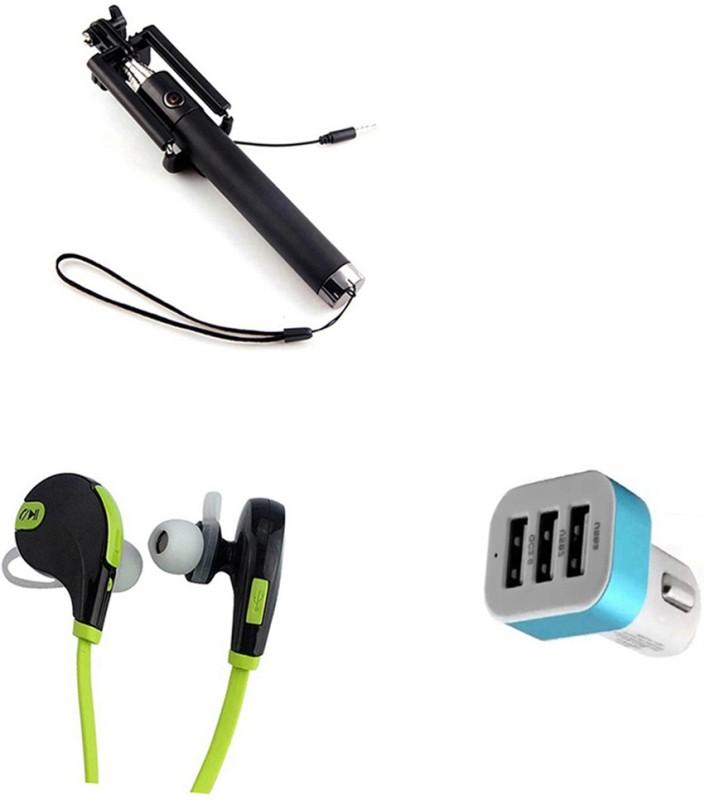 DAKRON Selfie Stick Accessory Combo for Intex Indie 15(Multicolor)