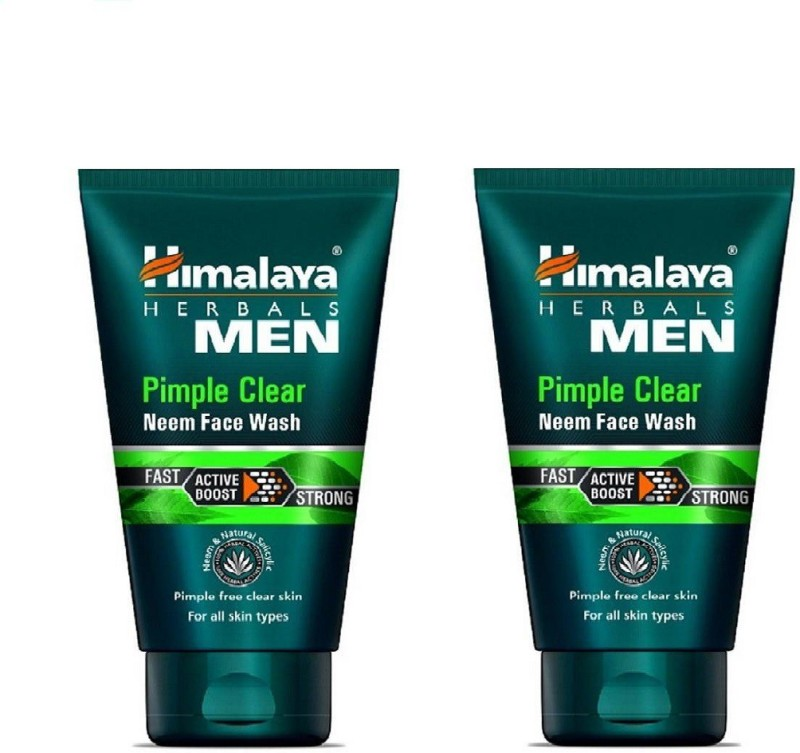 Himalaya FACE WASH Men Pimple Clear Neem 100g PACK OF 2 Face Wash(200 g)