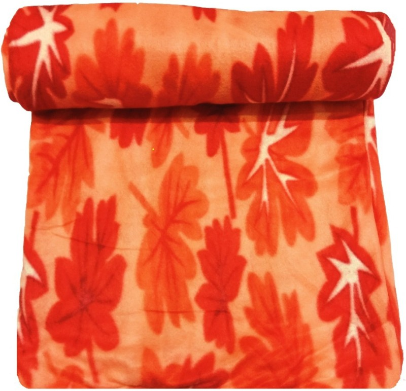 Dua Fashion Hub Orange Razai Cover Wool Batting(80 inch x 90 inch)
