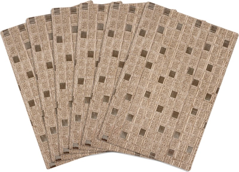 Saral Home Rectangular Pack of 6 Table Placemat(Beige, Polyester)