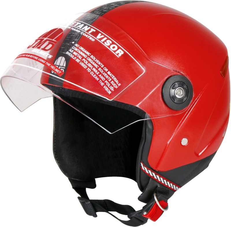 JMD GRAND WITH Reflector (RED, L-SIZE) Motorbike Helmet(Red)