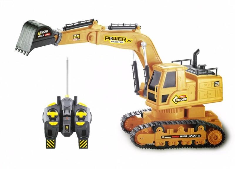 jilani Rc JCB Excavator 6Ch Wireless Remote Control Toy(Yellow)