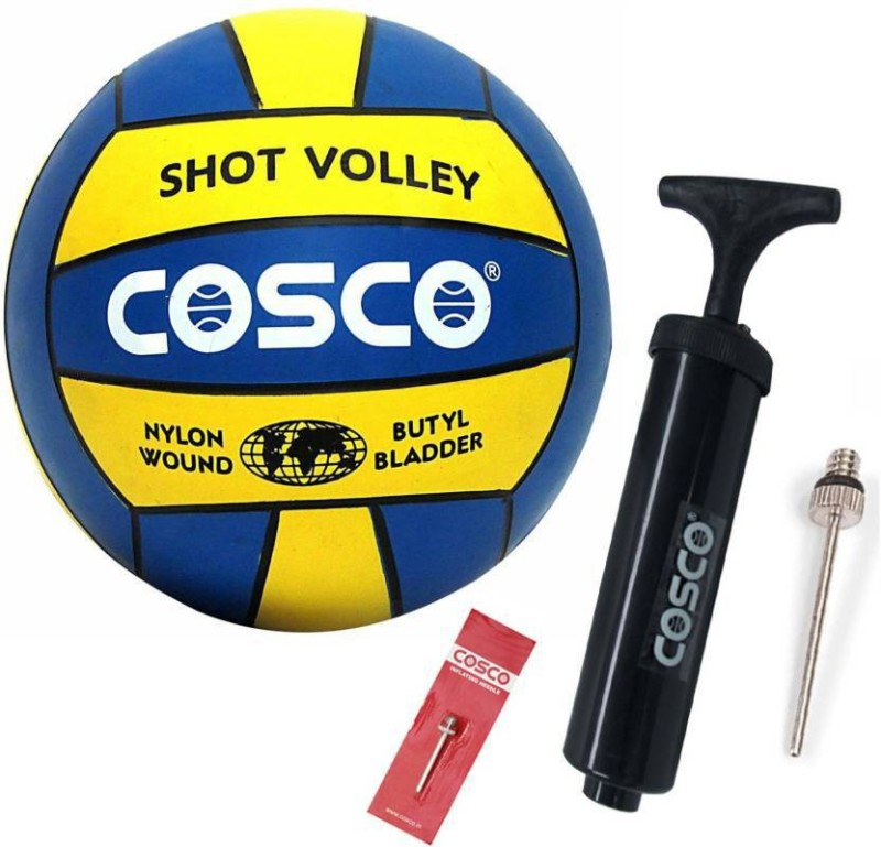 Cosco Shot Volleyball with pump Volleyball - Size: 4(Pack of 2, Blue)
