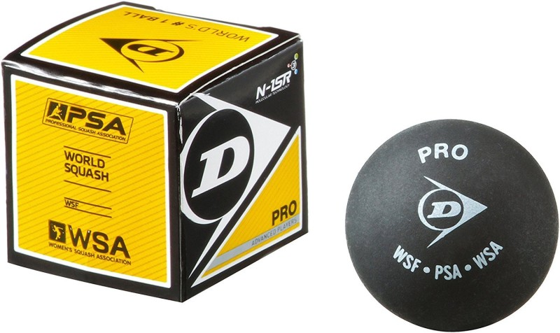 Dunlop Double Dot Squash Ball(Pack of 4, Black)