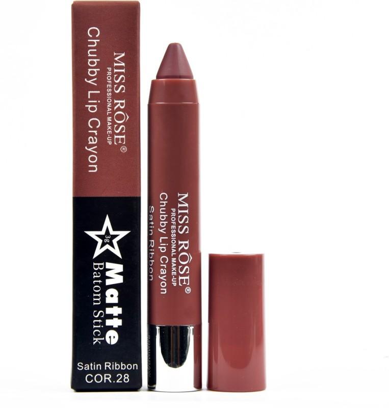 MISS ROSE Matte Lipstick / Lip Crayon Chubby 28(CHOCOLATE, 3 ml)