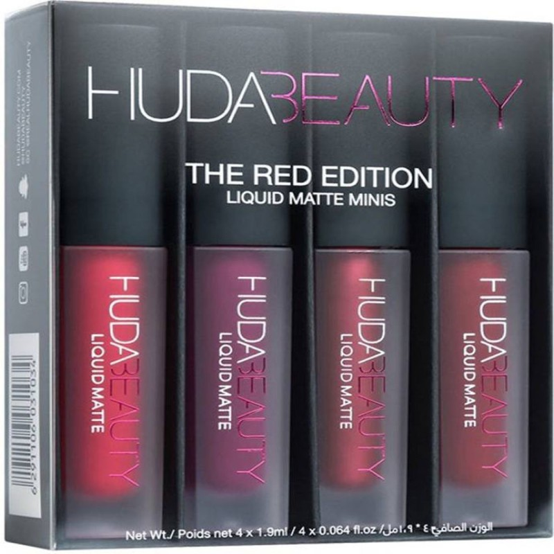 Huda Beauty The Red Edition Liquid matte Minis(Red, 2.5 ml)