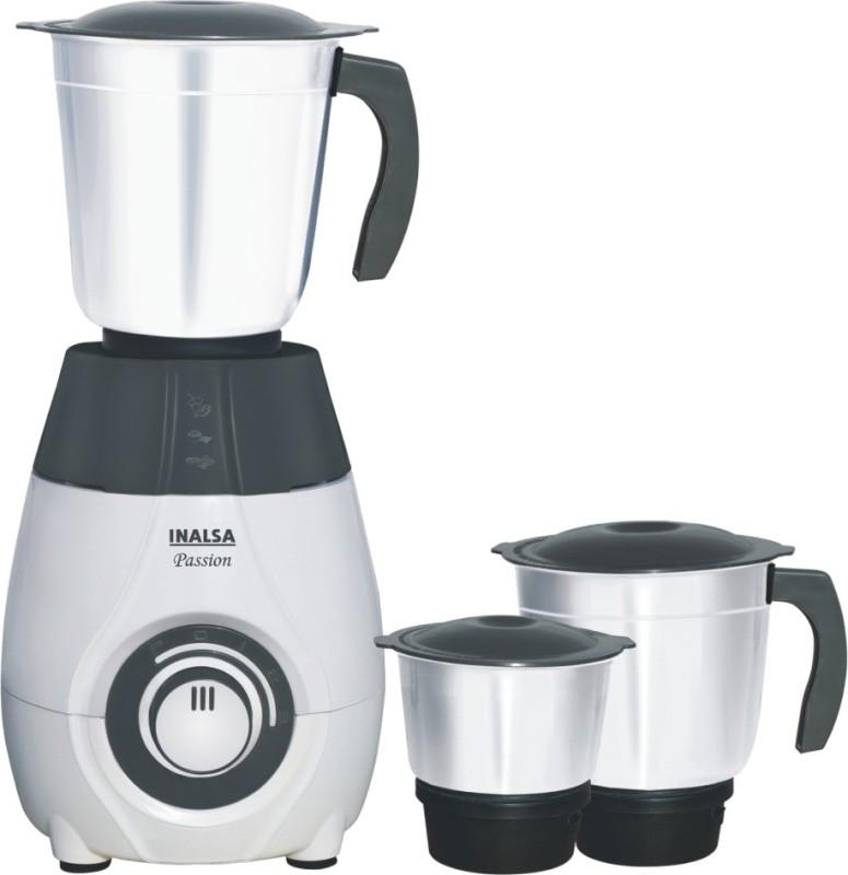 Inalsa Passion 600 Mixer Grinder(Grey, 3 Jars)