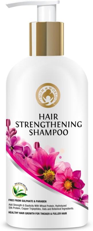 Mom & World Hair Strengthening Shampoo - For Thicker And Fuller Hair No SLS & Paraben)(300 ml)