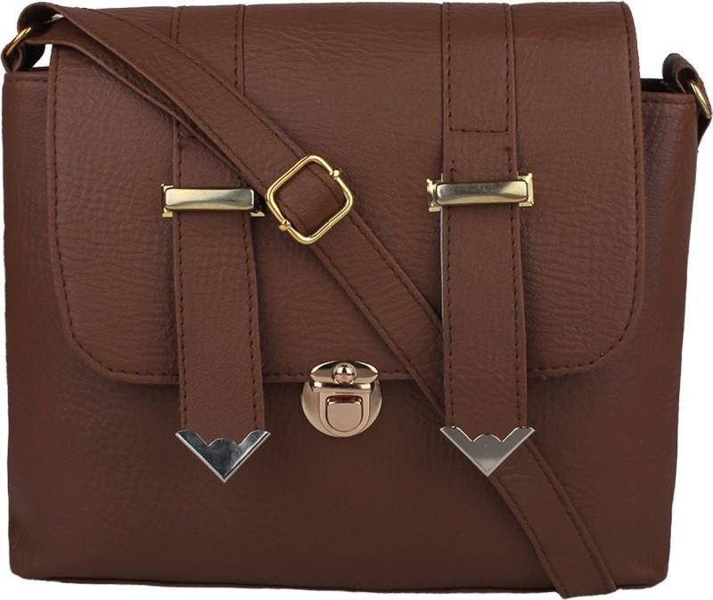 Sahal Brown Sling Bag