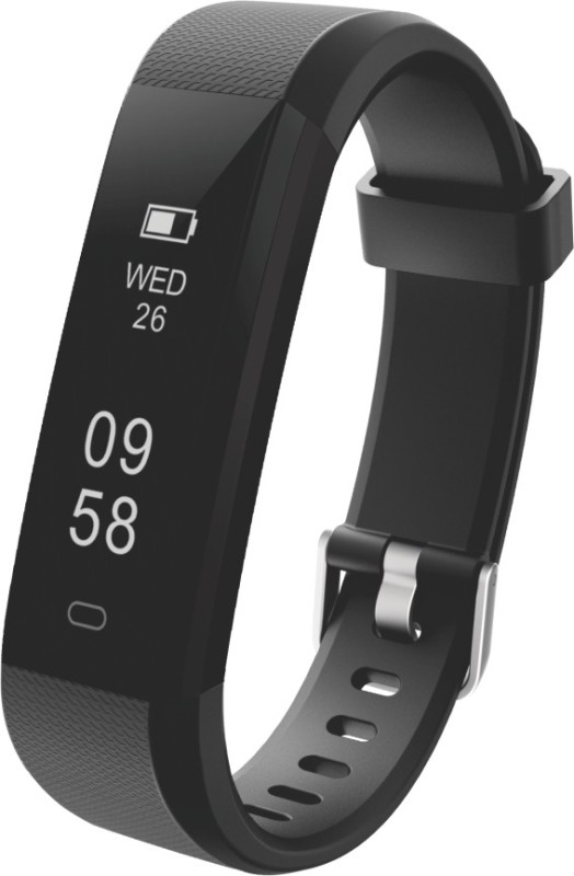 Portronics POR-924 Fitness Smart Band(Black Strap, Size : Medium)