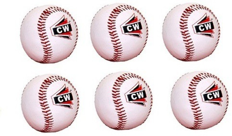 CW Pack Of 6 Outdoor Indoor Game Practice Training PU Soft Baseball(Pack of 6, White)