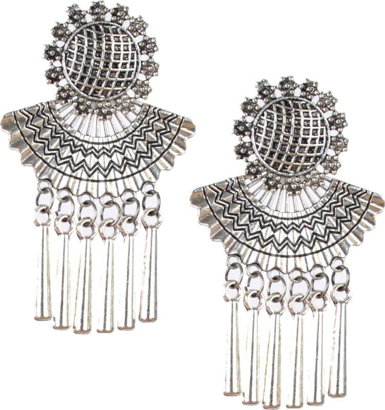DarkLady Stunning German Silver Earrings online In India German Silver Drops & Danglers