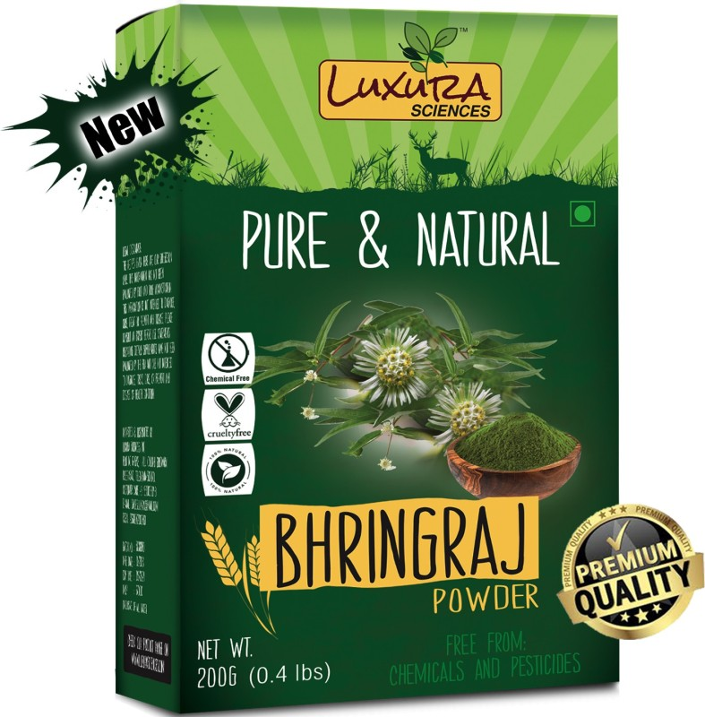 Luxura Sciences Natural Bhringraj Powder for hair growth and conditioning 200 Grams (Eclipta Alba)(200 g)