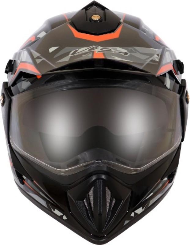 VEGA OFF ROAD D/V CAMO DULL BLACK ORANGE Motorbike Helmet(DULL BLACK ORANGE)