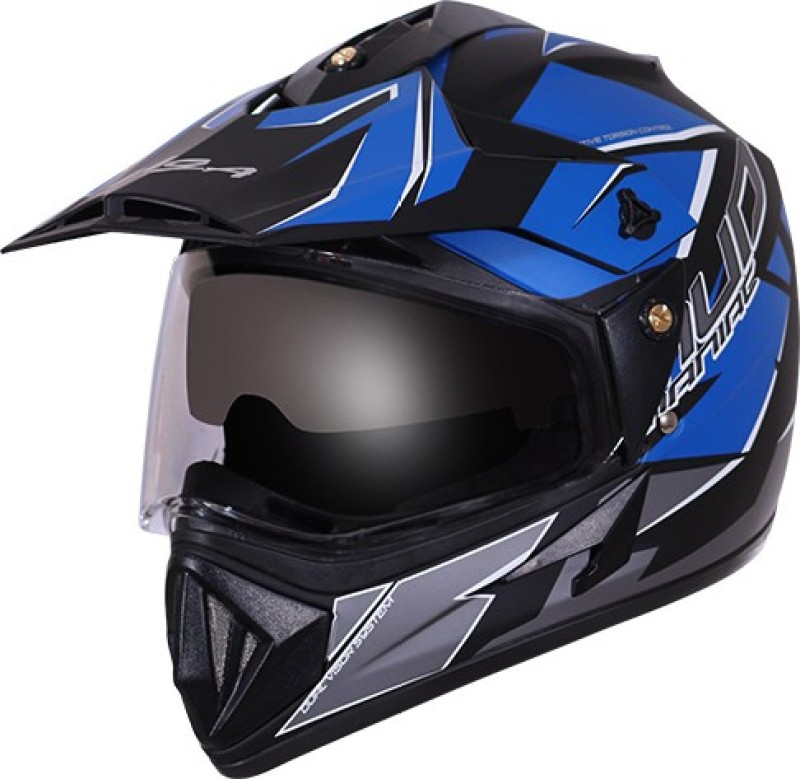 VEGA Off Road Mud Motorbike Helmet(Black, Blue)