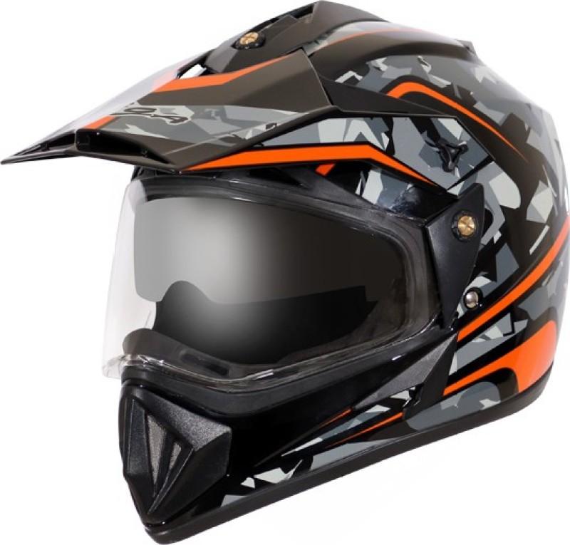 VEGA D/V CAMO Motorbike Helmet(BLACK ORANGE)