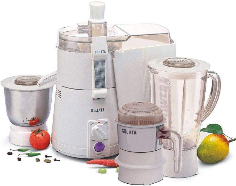 SUJATA powermatic plus pp 900 Juicer Mixer Grinder(White, 2 Jars)