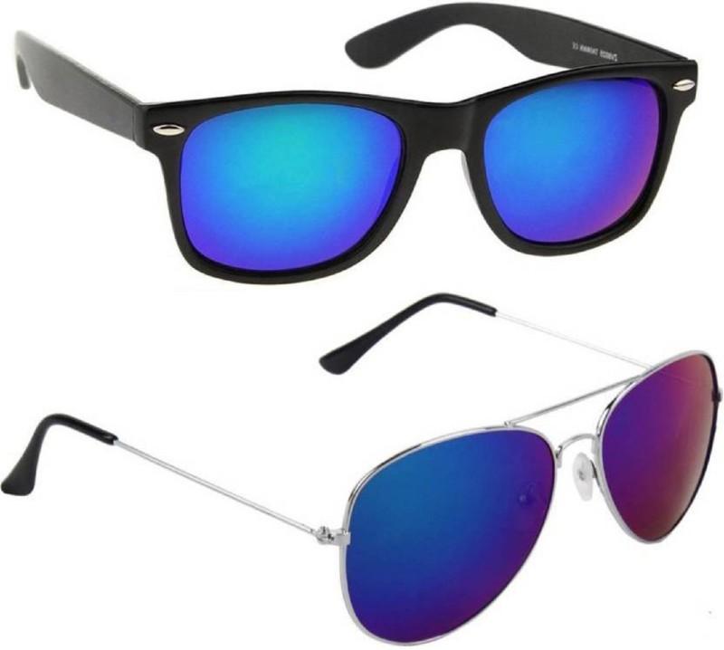 Spexra Wayfarer, Aviator Sunglasses(For Boys & Girls)