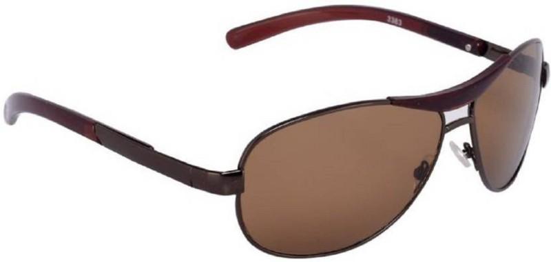 Spexra Rectangular Sunglasses(Brown)