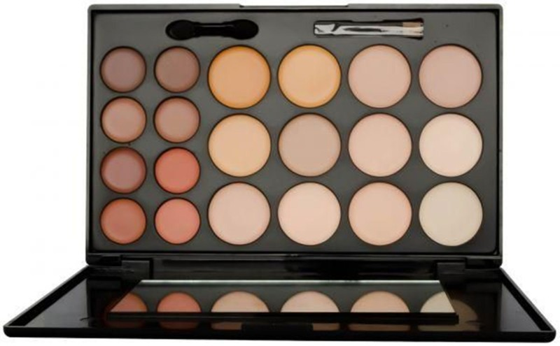 Kiss Beauty 20 Colors Contour Concealer Highlighter And Correct Cream Palette Concealer(01, 56 g)