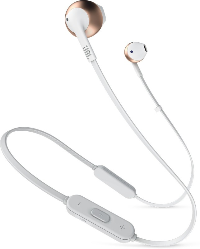 JBL T205BT Bluetooth Headset with Mic(Rose Gold, In the Ear)