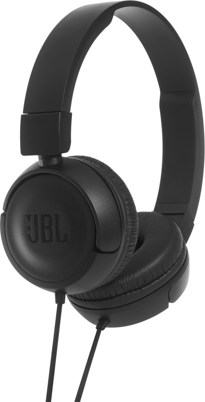 JBL T450 Wired Headset with Mic(Black, On the Ear)