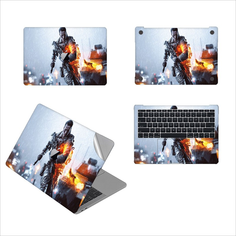 GADGETS WRAP GW-54137 battlefield 4 ddx pdp Printed Top, Bottom & Inside Skin for Non Retina 13 inch Vinyl Laptop Decal 13