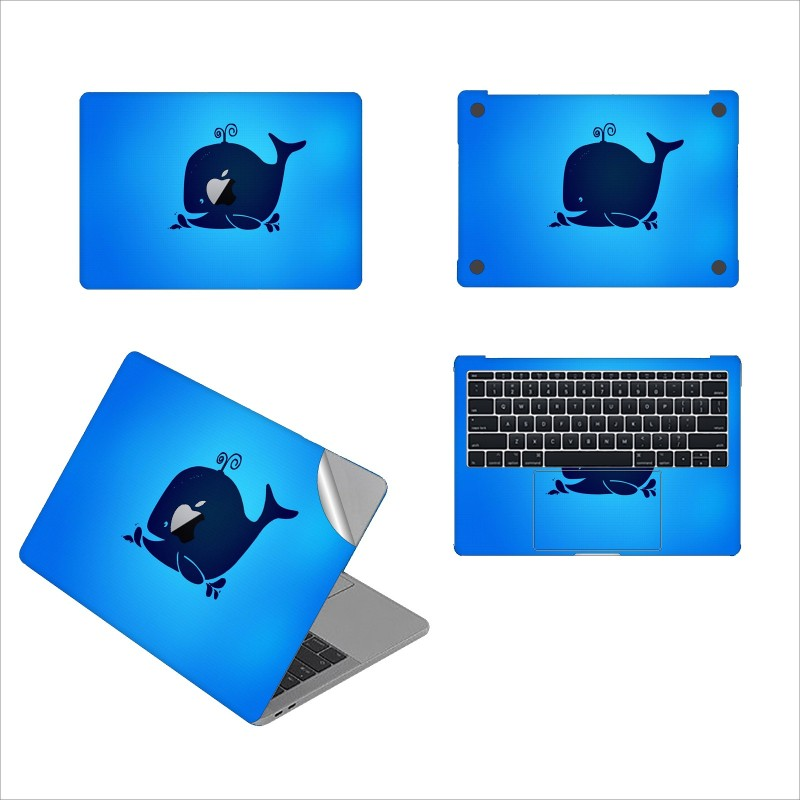 GADGETS WRAP GW-50478 Beluga Whale Printed Top, Bottom & Inside Skin for 13 inch Air Vinyl Laptop Decal 13
