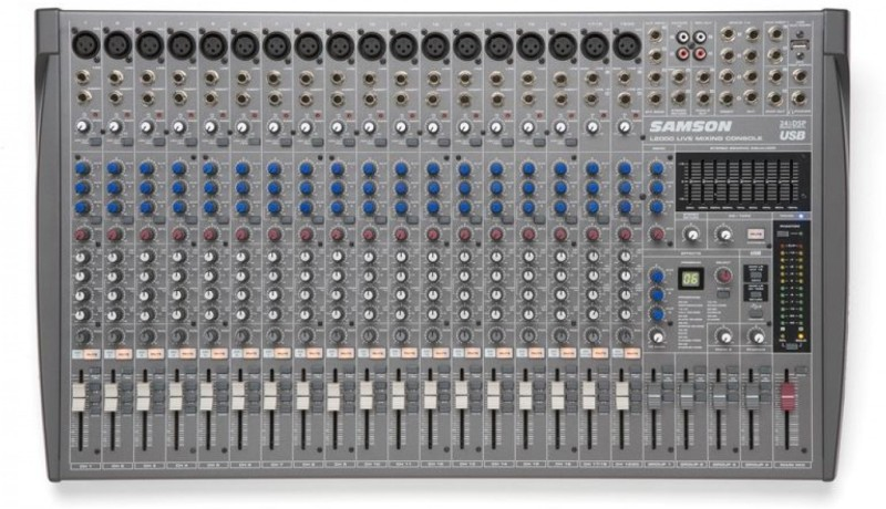 Samson L-2000 20-Channel/4-Bus Professional Mixing Console Digital Sound Mixer