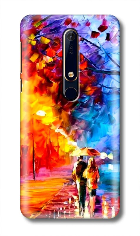 Golimar Back Cover for Nokia 6.1(Multicolor, 3D Case)