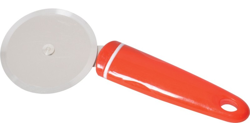 Arni Stainless Steel Red Pizza Cutter for Cut Pizza, Sandwiches Set of one for your Kitchen Wheel Pizza Cutter(Stainless Steel)