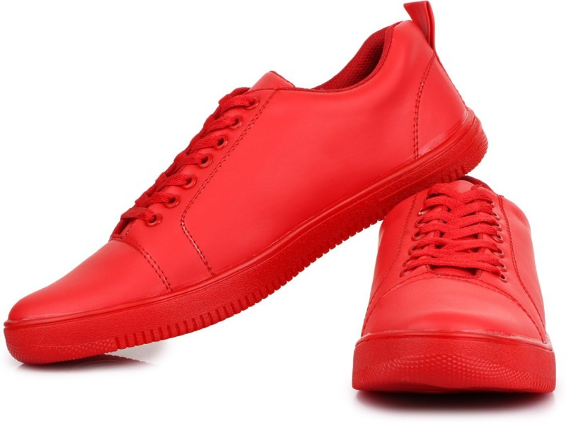 D-SNEAKERZ Casual , Partywear Sneakers Shoes For Men's And Boys Red Color Sneakers For Men(Red)
