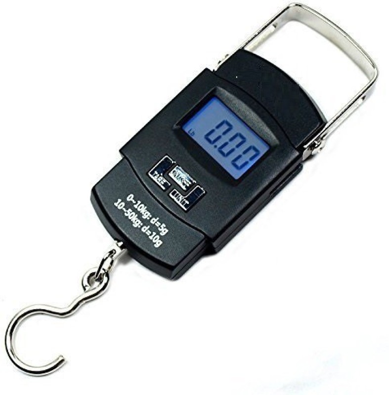 Arythe 50Kg Portable Electronic Digital Weighting Hanging Scale For Travel Luggage,Black Weighing Scale(Black)