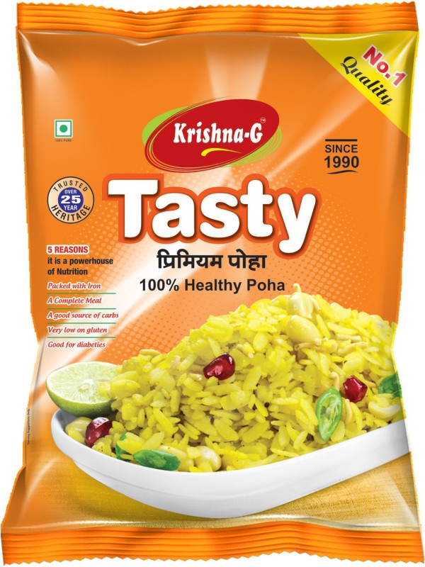 KRISHNA G SUGARFREE POHA COMBO OF 3(3 kg, Pouch, Pack of 3)
