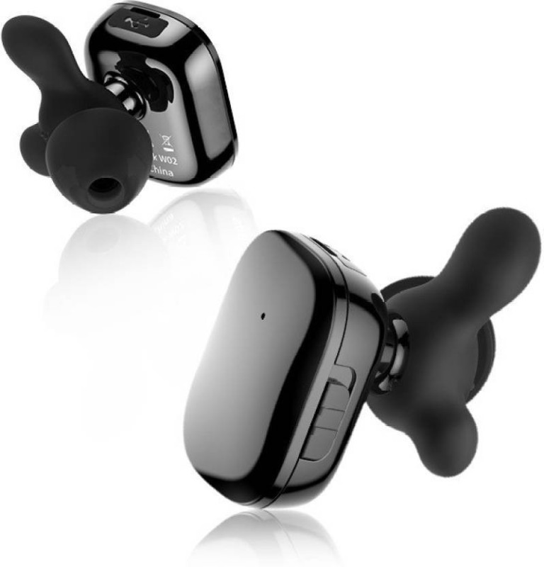 FKU Mini Smallest 4.0 Bluetooth Headset with Mic(Black, In the Ear)