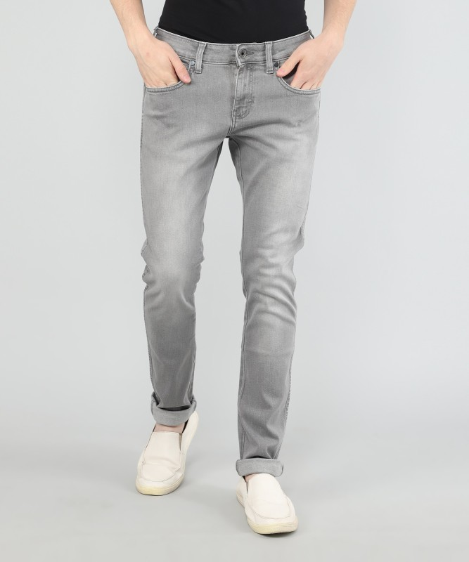 Wrangler Skinny Men Grey Jeans
