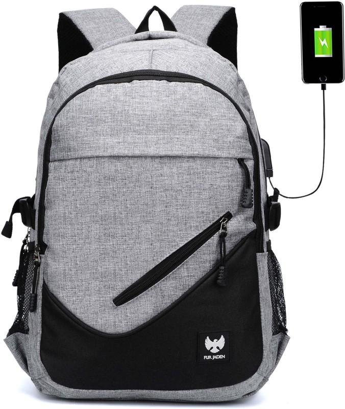 Fur Jaden Grey Waterproof Backpack 18.0 Laptop Backpack(Grey)