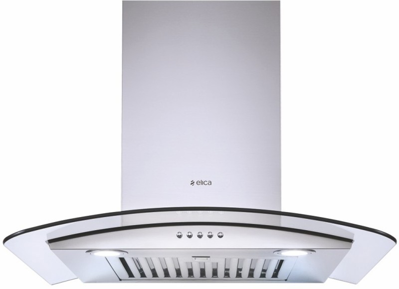 Elica GLACE SF ETB PLUS LTW 60 SS PB LED with Installation Kit Included Wall Mounted Chimney(Silver 1220 CMH)