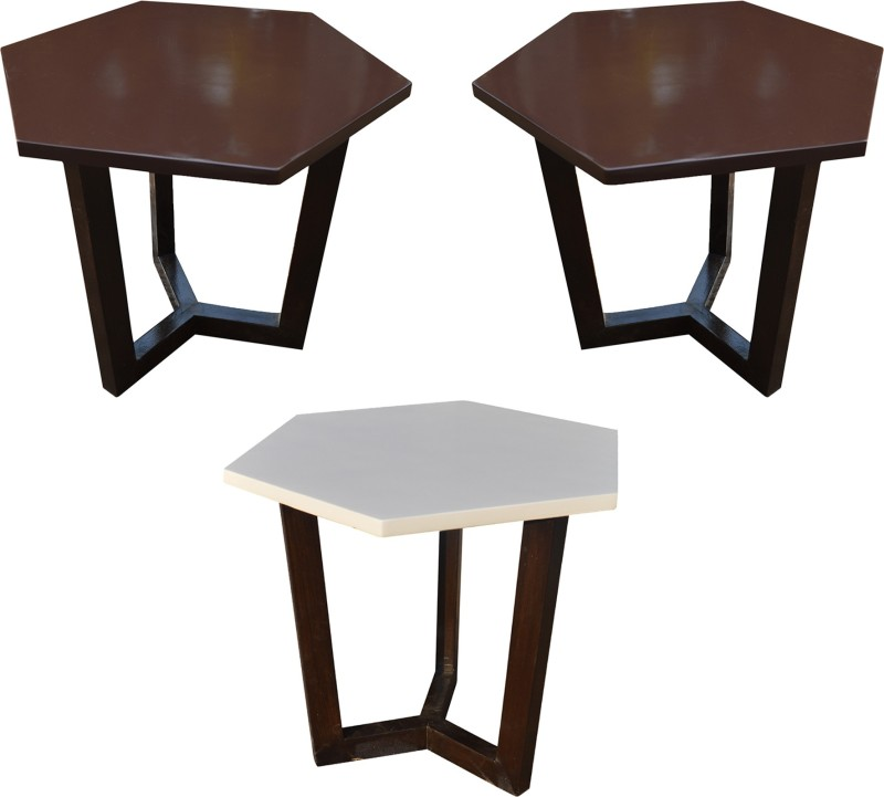 STELLA Solid Wood Coffee Table(Finish Color - Brown)