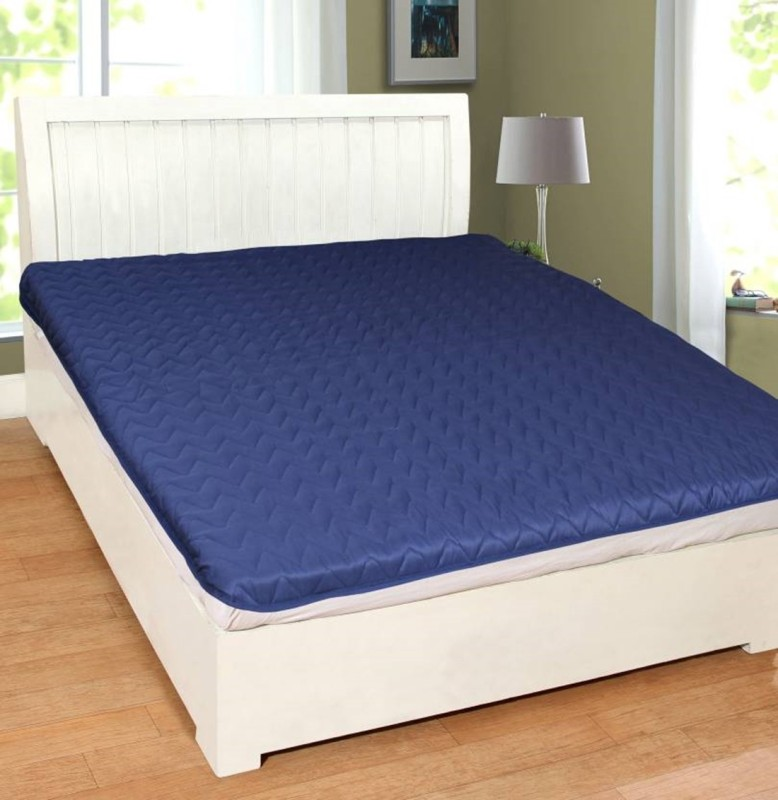 Anticca Elastic Strap King Size Waterproof Mattress Protector(Blue)