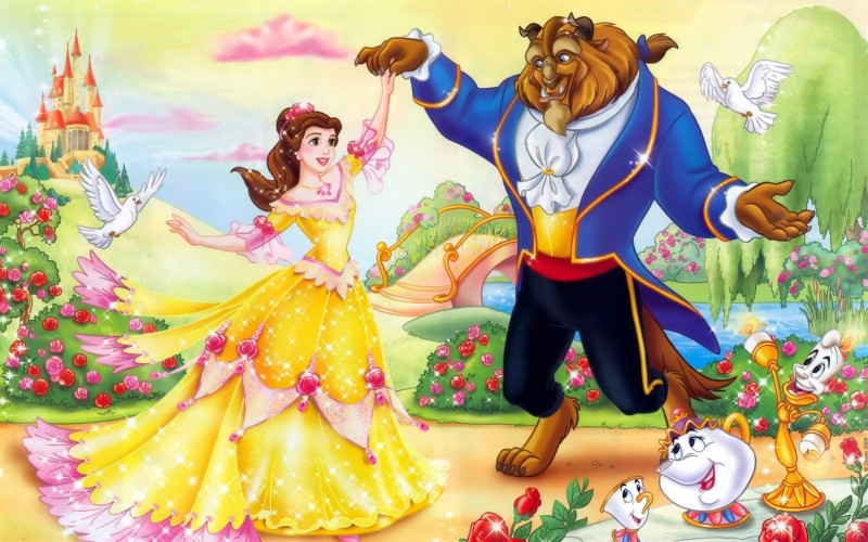 AnanyaDesigns Movie Beauty And The Beast Wall Poster Paper Print(12 inch X 18 inch, Rolled)
