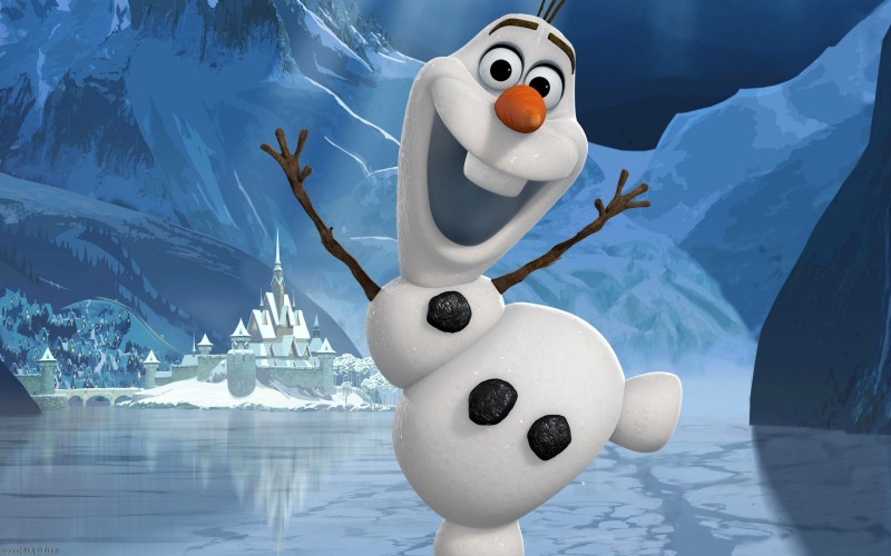 Movie Frozen Olaf HD Wall Poster Paper Print(12 inch X 18 inch, Rolled)
